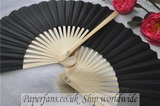 wedding black silk fan Asian fa