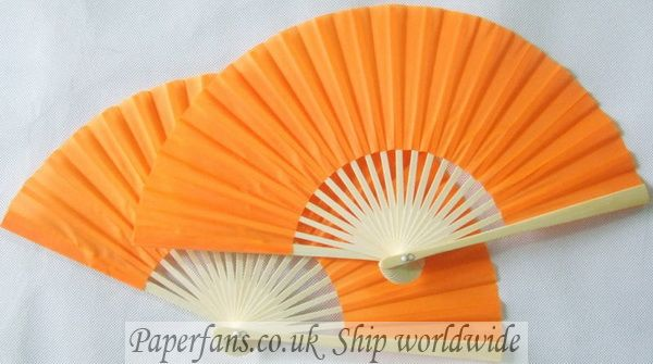 wedding orange silk fan Chinese