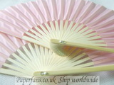 pink silk fan for wedding