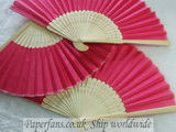 rose wedding silk fan fold fan