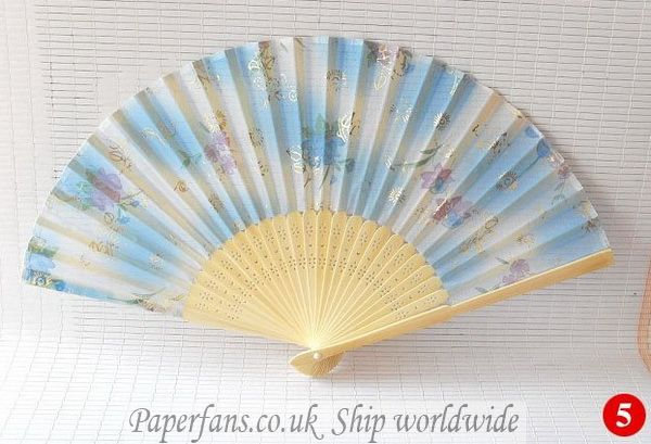 Hand Held Fans : Wedding hand held fans £