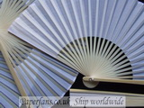 wedding white silk fan