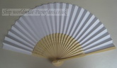 white paper wedding hand fan