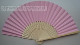 paper pink Wedding fans for sal