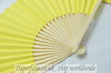 paper yellow foldable fan