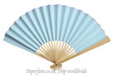light blue paper fan wedding fa