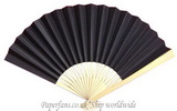black paper fan reception weddi
