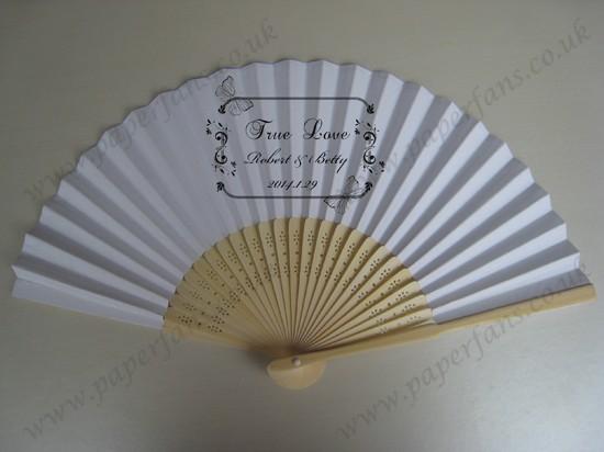 Personalized Fans For Wedding Wedding Favor Fan074