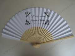 personalized paper wedding fans