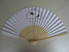 quality wedding hand fans perso