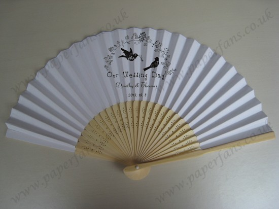 quality wedding hand fans personalized