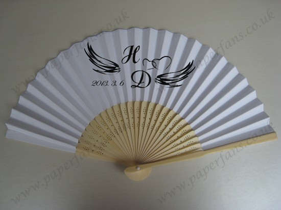 beautiful gift paper hand fans for wedding