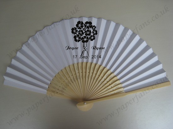 wholesale personalized bamboo hand fans
