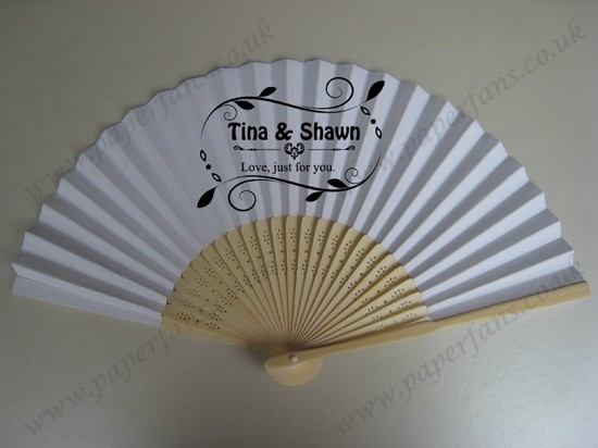 personalized wedding fans printed name&date of wedding