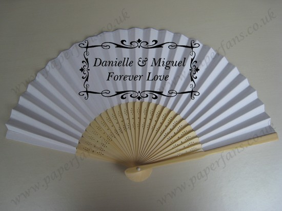 custom wedding invitation hand fans