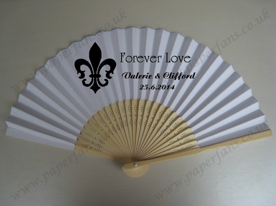 wedding hand fan with personalized design