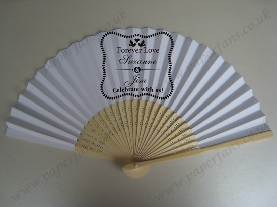 quality fashion personalized fans for wedding