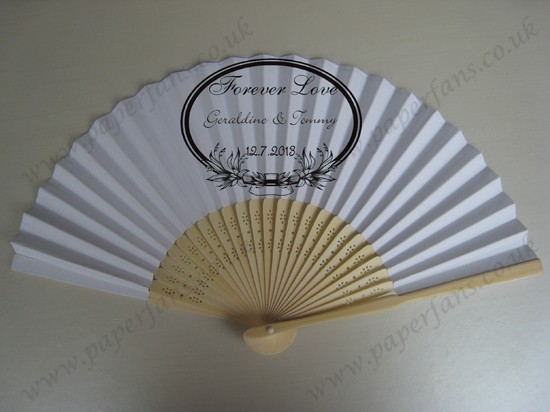 personalized bamboo hand fan for wedding