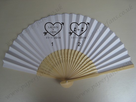 customized printed promotion folding fans