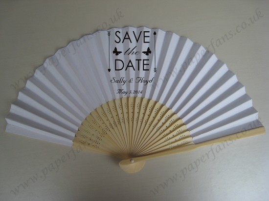 wedding paper fans personalized wedding decoration