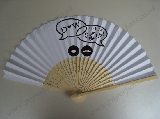 customized printed hand fans wedding gifts
