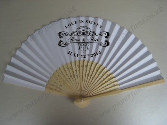 nice personalized gift wedding fans cheap