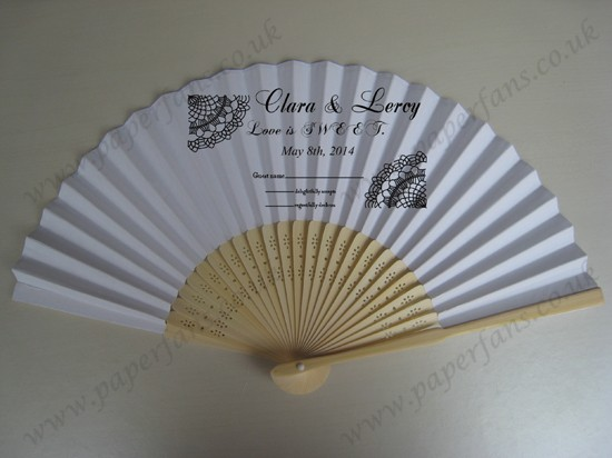 wedding decoration gift personalized hand fans