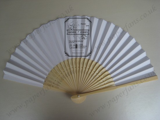 personalized wedding fans wood folding fans