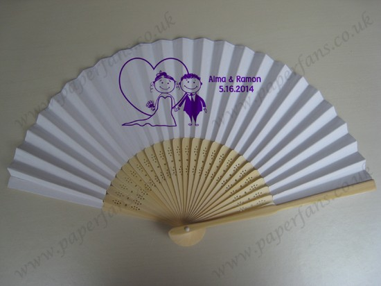 personalized design wooden hand fans wedding